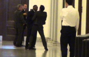 "EXCLUSIVE VIDEO – Harry Reid's Bodyguard Physically Attacks ""Crapitalism"" Author Jason Mattera"