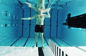 Watch This Crazy Guy Shoot A Gun At Himself Underwater