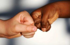 black n white hands