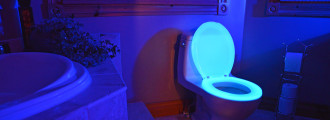 Man Finally Invents the Glow-In-The-Dark Toilet Seat