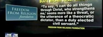 Scott Walker Tweets Bible Verse, Atheists Explode