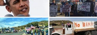 Hundreds Turn Out to Protest Obama in Oregon