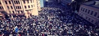 Muslim Prayers Take Over Downtown Los Angeles