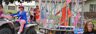 Hillary Takes A Hit! A Water Balloon To The Face In A Small Town Iowa Parade
