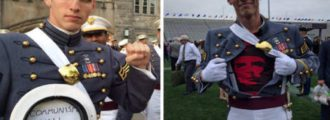 West Point Grad Dishonors the Uniform - Proudly Shows He's a Commie