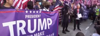 How 'bout That! Enthusiastic Pro-Trump Rally Meets -- Among Hong Kong Protesters
