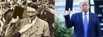 Fake! Actress Falsely Puts a Bible in Hitler's Hand